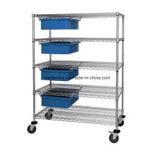 High Quality 5 Layers Chrome Steel Wire Storage Mesh Shelf